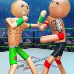 Police Stick man wrestling Fighting Game